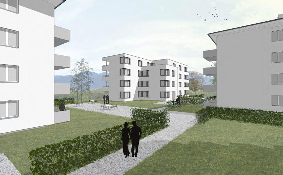 Modell Neubauten Nord-West
